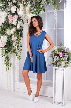 Летнее джинсовое платье Angela Ricci со скидкой