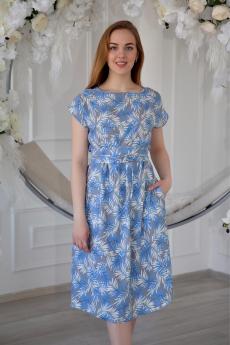 Летнее голубое платье  Lika Dress