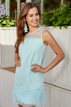 Платье ментолового цвета Mollis