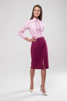 Замшевая юбка карандаш Marimay со скидкой