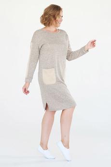 Теплое платье с карманами Paola Rossi со скидкой