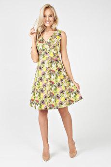 Желтое летнее платье Carlo Bottichelli со скидкой