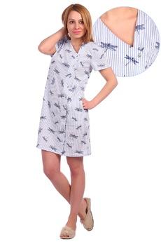 Хлопковый халат со стрекозами ElenaTex