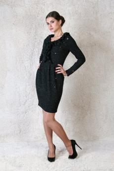 Черное платье с люрексом Милана