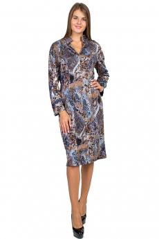Трикотажное платье с рисунком Bast со скидкой